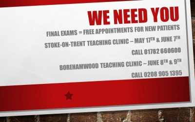 Exam Time = FREE appointments